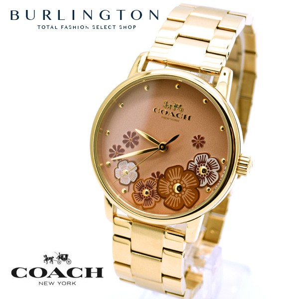 ab5ff004006b コーチ 腕時計 レディース COACH 時計 花柄 かわいい グランド ベージュ ゴールド 人気 ブランド 女性 ギフト プレゼント