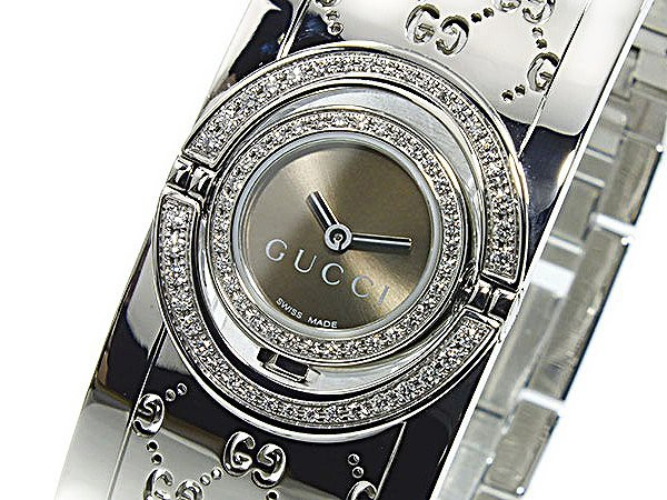 86a1e6a8f2 グッチ 腕時計 レディース GUCCI 時計 ブラウン シルバー トワール 人気 ブランド 女性 ギフト クリスマス プレゼント
