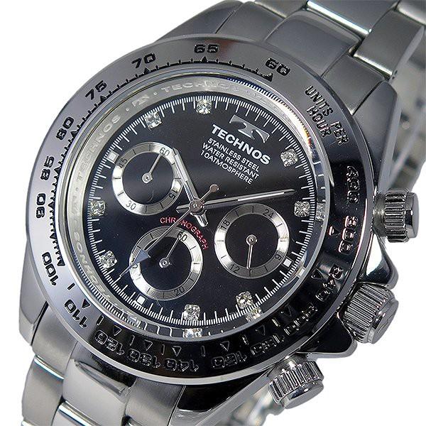 ae69207ff925 テクノス 腕時計 メンズ TECHNOS 時計 クロノグラフ ブラック シルバー 人気 ブランド おすすめ 男性 ギフト クリスマス プレゼント
