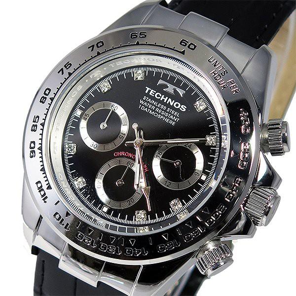 0902c7cbe763 テクノス 腕時計 メンズ TECHNOS 時計 クロノグラフ ブラック 黒 人気 ブランド おすすめ 男性 ギフト クリスマス プレゼント