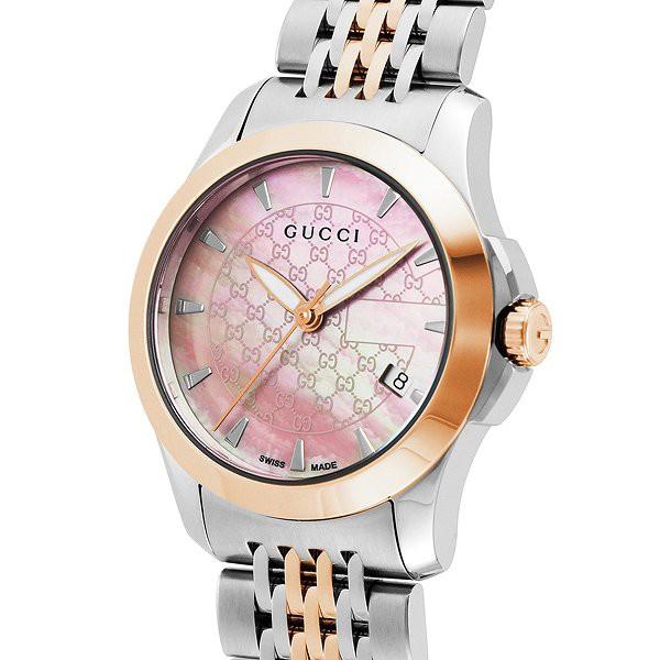 8301320d985e グッチ 腕時計 レディース GUCCI 時計 Gタイムレス ピンクシェル シルバー ピンクゴールド 人気 ブランド 女性 クリスマス