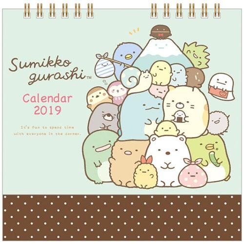 すみっコぐらし 卓上カレンダー すみっコぐらし 集合 2019年 カレンダー