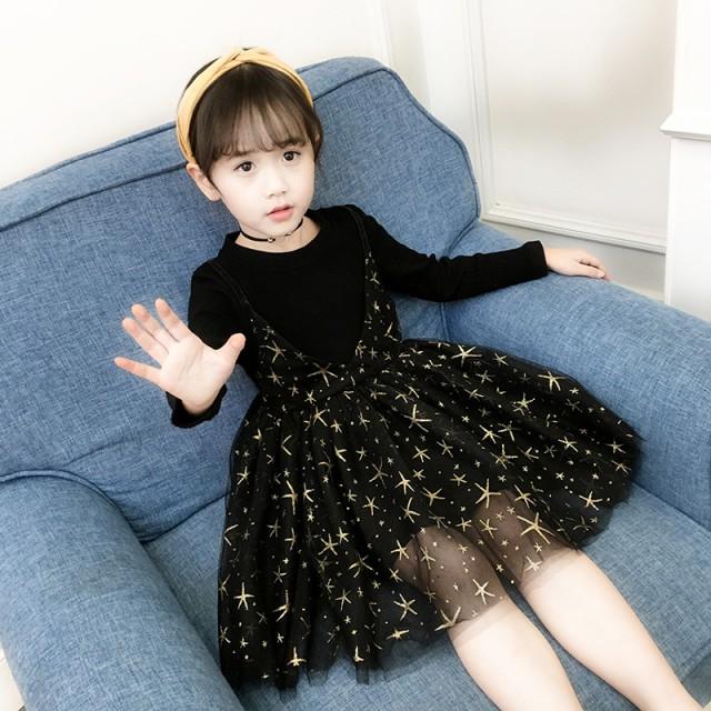 b7ef1fc8c2ace 子供服 ワンピース 秋 長袖 子供ドレス フォーマル 韓国 キッズ 子供 女の子 可愛い ドレス こども服