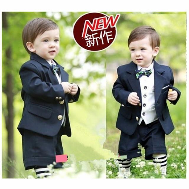 2a56225ed59b5 子供タキシード キッズ 男の子 ベビー 子供スーツ スーツ 燕尾服 フォーマル 半袖 長袖 結婚式 入園