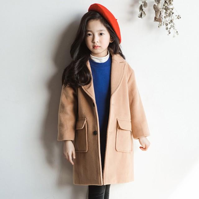 19efb2163cbf5 韓国子供服 女の子 ダッフルコート ロング 長袖コート 子供服 キッズ 女児 ジャケット 冬服