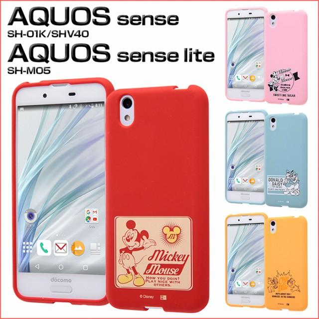 10711e2d98 AQUOS sense SHV40 SH-01K / AQUOS sense lite SH-M05 ケース ディズニー カバー