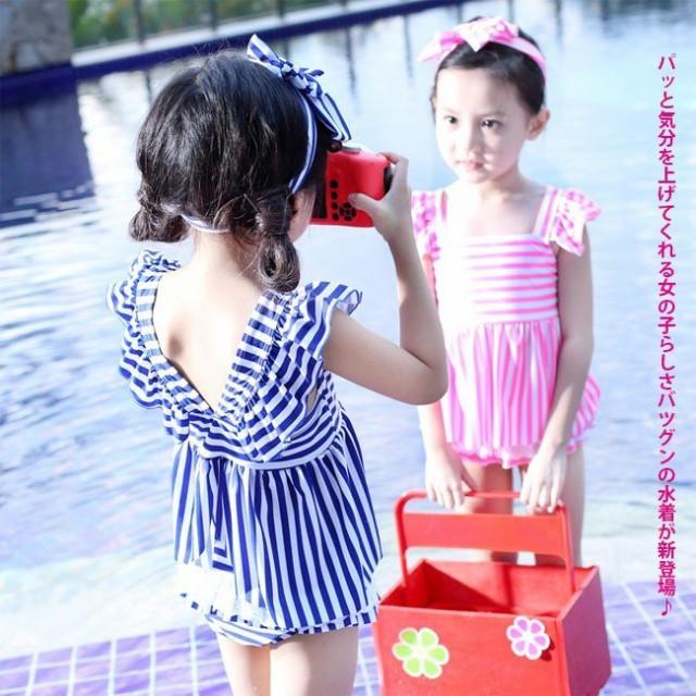 30a35b94b84c11 送料無料マリンセーラー 水着 ワンピース キッズ 水着 女の子 セパレート スイミング水着 子供服 子供水着