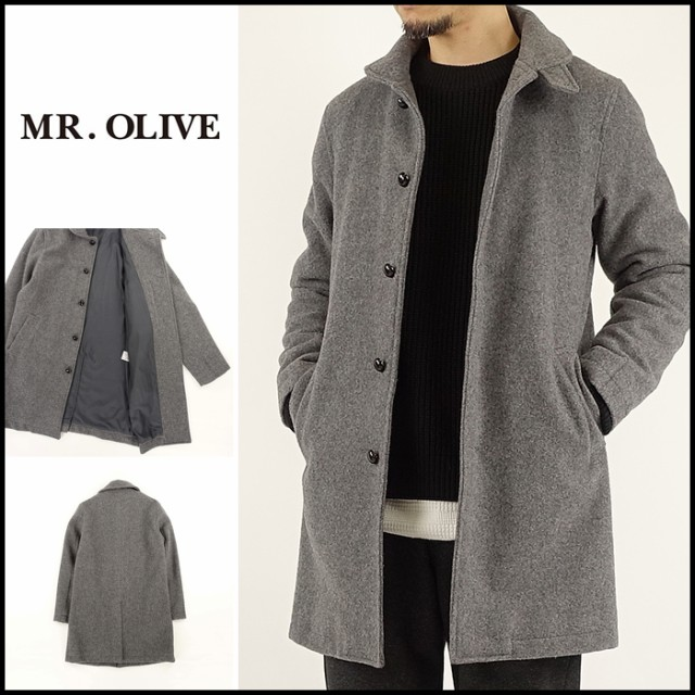 mr olive ミスターオリーブ m 18372 leather botton deck coat レザー