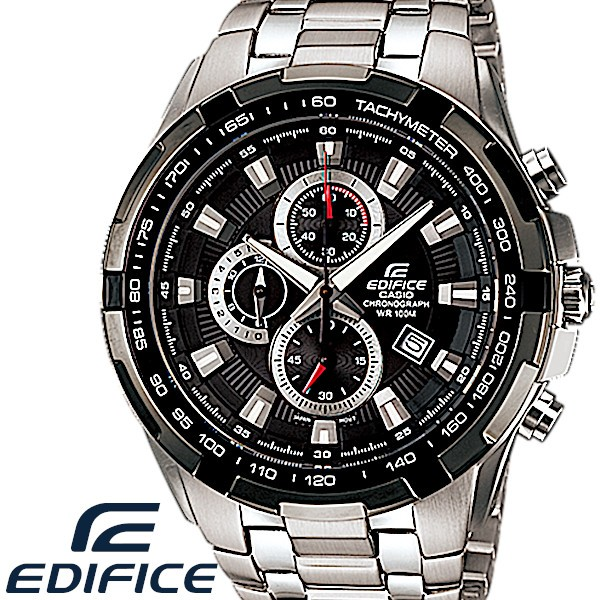 bdf219ed36 CASIO EDIFICE カシオ エディフィス 腕時計 エディフィス メンズ 腕時計 クロノグラフ ステンレス 海外モデル ブラック
