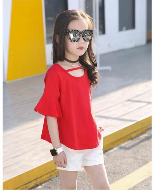 fb83bfa900418 韓国こども服 女の子 キッズ服 2点セット カジュアル 子ども服 トップス ...