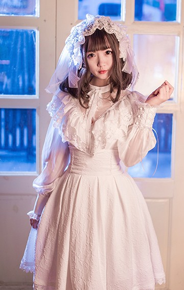 ロリータワンピース ロリータドレス Lolita ロリィタ ホワイトブラック