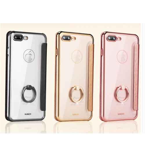 59837151c5 手帳型バンカーリング付クリアiPhoneケース iPhone6 iPhone6Plus iPhone7 iPhone7Plus iPhone8  iPhone8Plus iPhoneX 対応