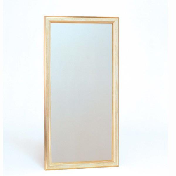 ウォールミラー/全身姿見鏡 【壁掛け用 大】 フレーム:シャンパンゴールド 壁掛けひも付き 日本製
