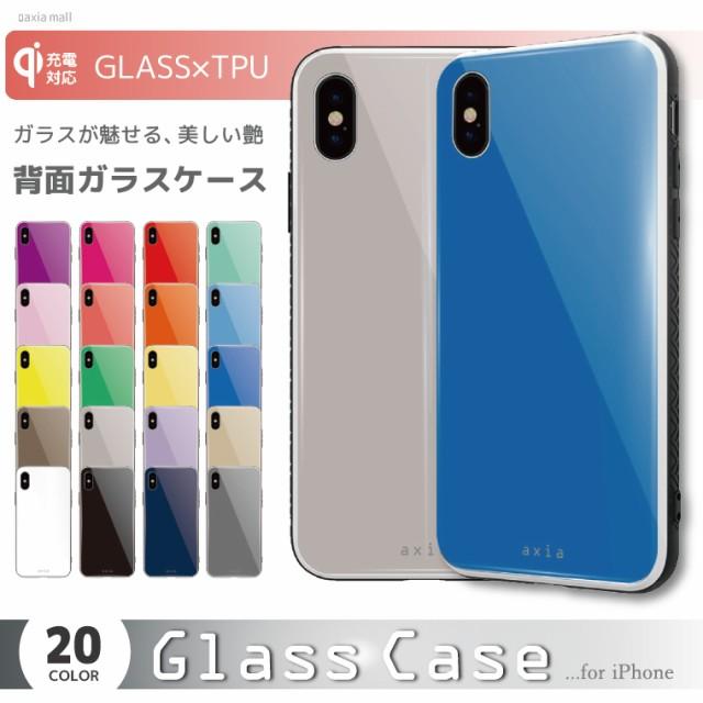 d7e0e32632 ガラスケース iPhone XS iPhone8 ケース 背面ガラス TPU スマホケース おしゃれ 海外 シンプル カラー ビビット パステル