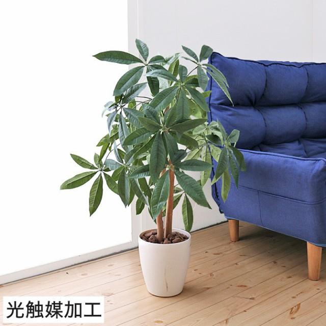人工観葉植物 パキラ90 光触媒加工 V-CAT 消臭 抗...
