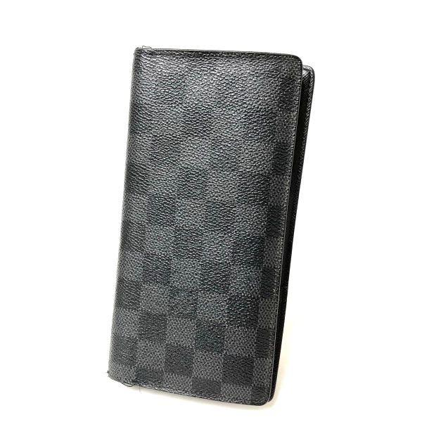 new product b4d13 e3b80 ルイヴィトン ポルトフォイユ・ブラザ ダミエグラフィット N62665 メンズ 長財布