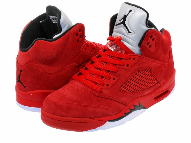 6776cccd5ff270 NIKE AIR JORDAN 5 RETRO UNIVERSITY RED BLACK UNIVERSITY RED  RED SUEDE