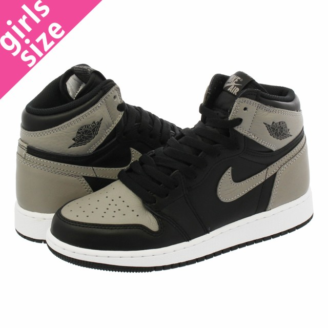 0bf427efb76d70 NIKE AIR JORDAN 1 RETRO HIGH OG GS BLACK MEDIUM GREY WHITE  SHADOW ...