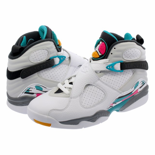 5a2caf879a7945 NIKE AIR JORDAN 8 RETRO WHITE TURBO GREEN MULTI COLOR  SOUTH BEACH ...