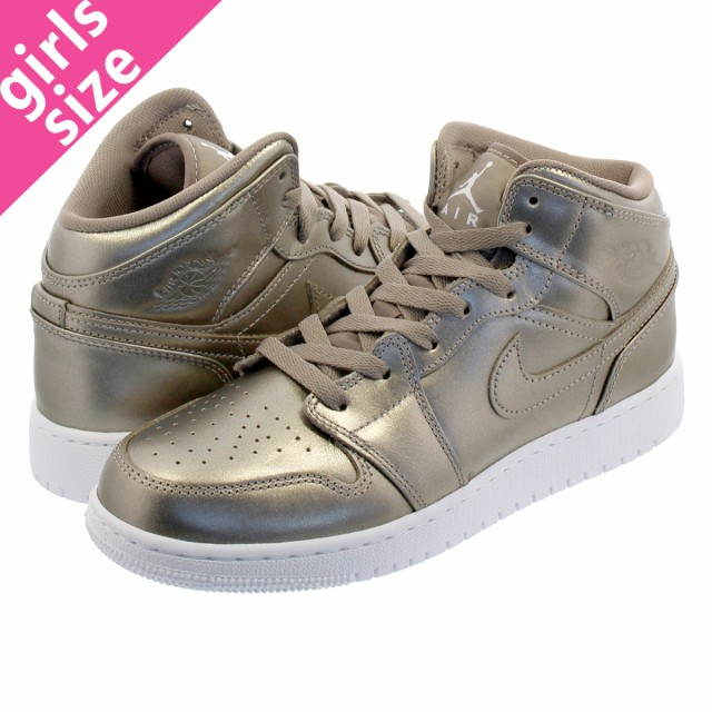 lowest price f44ff 12b76 NIKE AIR JORDAN 1 MID GS SEPIA STONE WHITE NOBLE RED