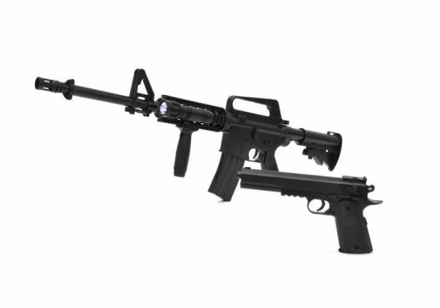 【送料無料・一部地域除く】VERSOS エアーガンセット Colt1911モデル & M4 R.I.Sモデル [ VS-C-M4 ] / M4
