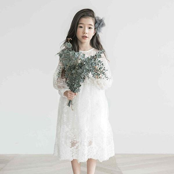 7a7134ce0a649 ワンピース キッズ ワンピース 女の子 レースワンピース キッズドレス 韓国子供服 花柄 ワンピ 秋100cm