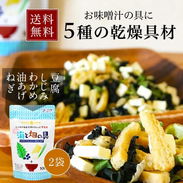 送料無料 2袋セットがお得 味噌汁の具・海と畑の具100g×2袋(ひかり味噌・みそ汁の具)