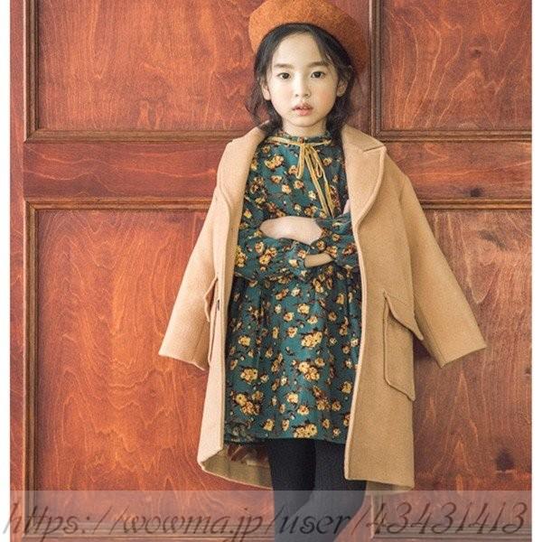 61080c5825ba3 韓国子供服 女の子 ダッフルコート ロング 長袖コート 子供服 キッズ 女児 ジャケット 冬服