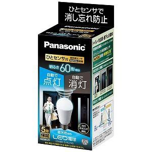 パナソニック 調光器非対応LED電球ひとセンサタイプ(一般電球形・昼光色相当・口金E26) LDA8D−G/KU/NS