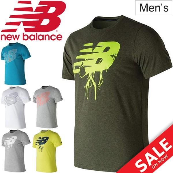 71c955828e892 Tシャツ 半袖 メンズ/ニューバランス newbalance ヘザーテックNBグラフィックTEE/トレーニングウェア ジム