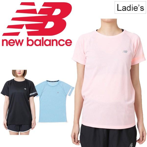 3e08892b90644 Tシャツ 半袖 レディース ニューバランス newbalance ランニングウェア NB RUN スポーツウェア トレーニング  ジョギング/JWTR9018