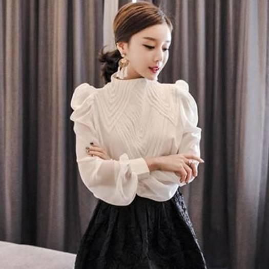 6078fd0ad9212 結婚式 お呼ばれ セットアップ ドレス 30代 上品 エレガント ボリュームスリーブブラウス×フレアスカート ツーピース