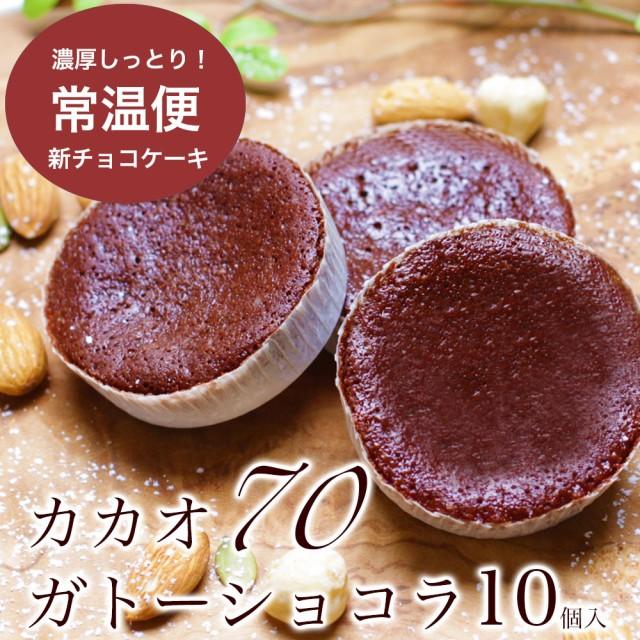 送料無料1000円 カカオ70 ガトーショコラ 10個入 ポッキリ スイーツ 訳ありでない バレンタイン チョコ チョコレート 個包装 小分け