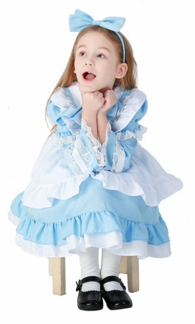37b846dbafeef ハロウィン コスプレ 仮装 女の子 キッズ 子供 不思議の国のアリス コスチューム ドレス おしゃれ 子供服