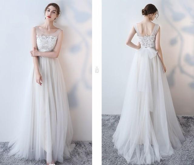 8a56b977c6ef7 大人気 チュール ウェディング 花嫁 白 ウェディングドレス 大きいサイズ 花嫁 ドレス 白ワンピース レース ウェディングドレス 二次会 の通販 はWowma!