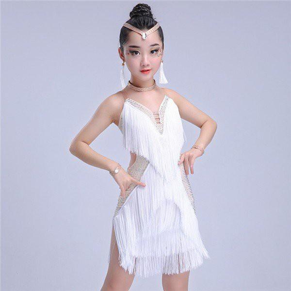 a0f4dd8797f51 ダンスウェア ラテン 社交ダンス ドレス キッズ ダンス衣装 キッズ 女の子 ラテンダンス 競技着 演出