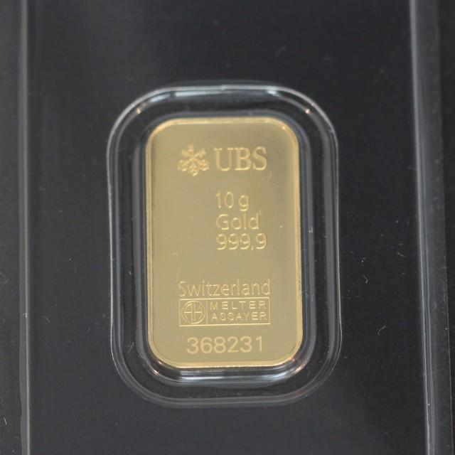 【あすつく対応】【送料無料】24金 インゴット INGOT [UBS インゴット 10g] ゴールドバー『金