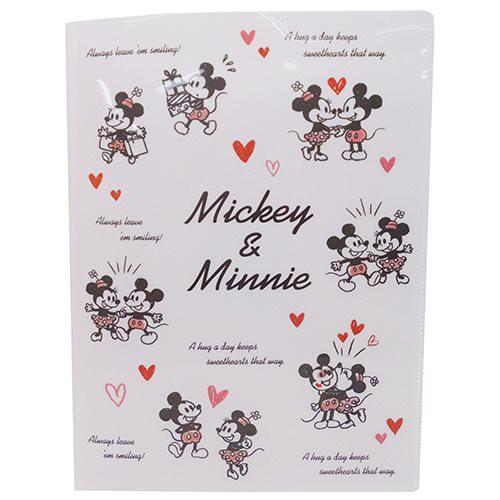 ミッキーミニー ファイル 10ポケット A4クリアファイル ラブラブ