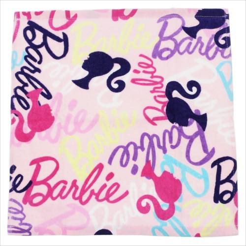 885f5dbb053308 Barbie バービー人形 ハンドタオル ウォッシュタオル 2枚セット ピンキッシュロゴ キャラクターグッズ通販
