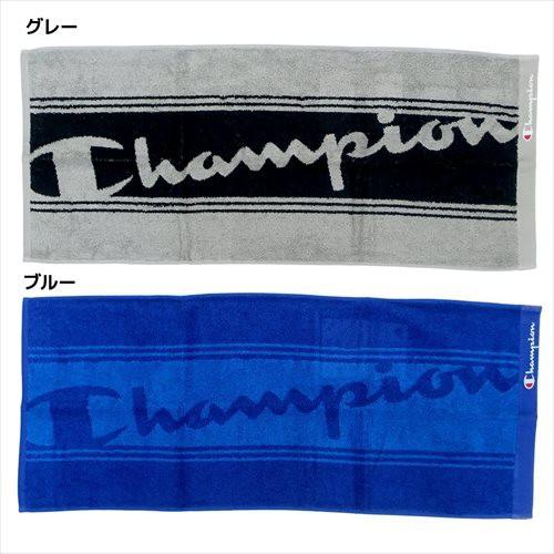 チャンピオン フェイスタオル ジャガードロングタオル ロゴ Champion 34×80cm スポーツブランド グッズ メール便可