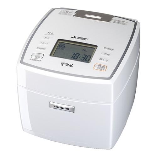 三菱電機 IH炊飯器 備長炭 炭炊釜 NJ-VV109-W ピ...