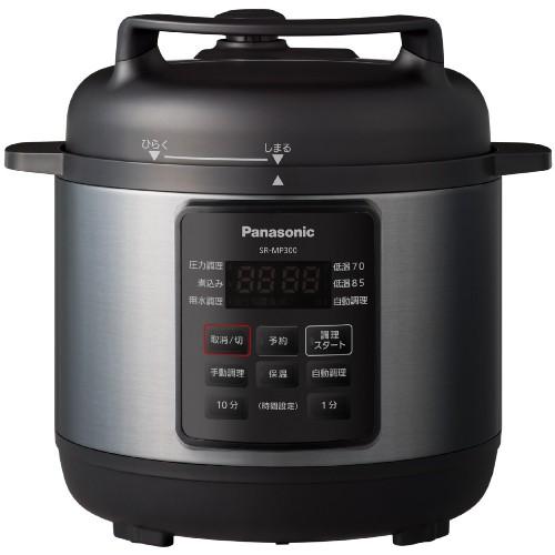 パナソニック 電気圧力鍋 時短なべ SR-MP300-K ブ...