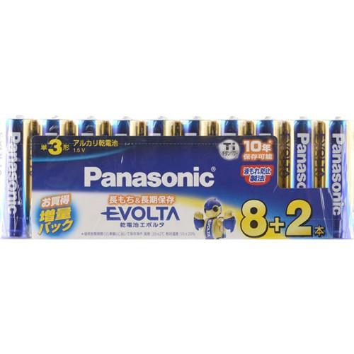 パナソニック エボルタ 単3形8本+2本パック LR6E...