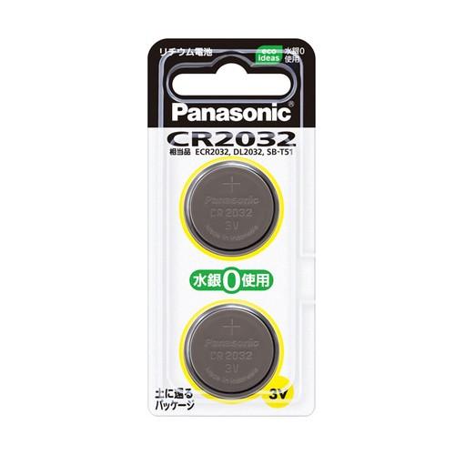 パナソニック コイン形リチウム電池 2個入 CR2032...