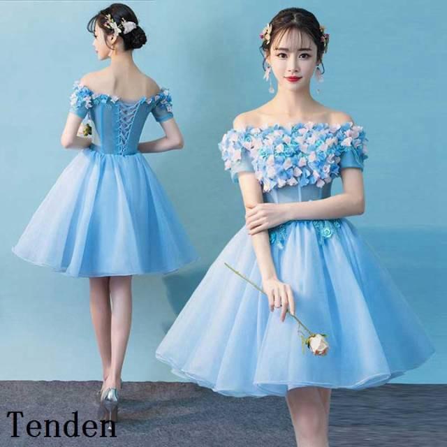 e600355b002b7 ブライズメイドドレス ミニドレス カラードレス ウェディングドレス ブライズメイド ワンピース 二次会 結婚式 カラー