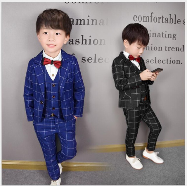 ad9a230aeec6b キッズスーツ 4点セット☆子供服スーツ フォーマルスーツ 男の子スーツ 入学式 男児