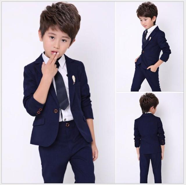 8799db77afc39 男の子スーツ 4点セット☆子供服スーツ 無地 キッズスーツ フォーマルスーツ 入学式