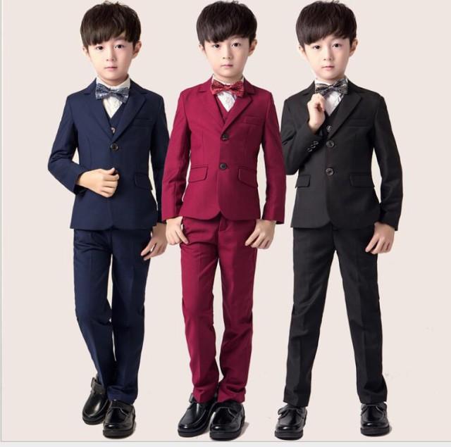1a4f06d5b9ea3 無地 5点セット 七五三 男の子スーツ 演奏会 男児 子供スーツ フォーマルスーツ キッズスーツ