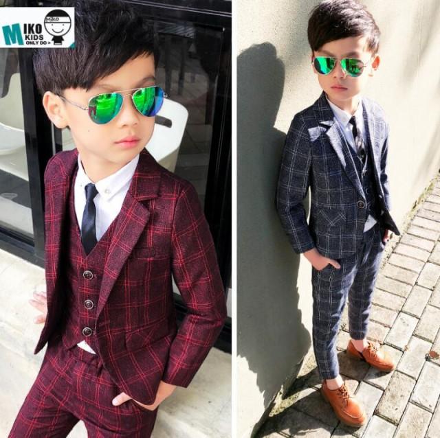fda0314fcaead チェック柄 フォーマル 子供服スーツ 入学式 ジュニア キッズスーツ 男児 男の子 90~150