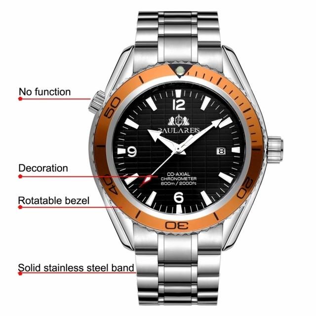 release date 700c7 6083c PAULAREIS P  高級 自動巻き 腕時計 メンズ 海外ブランド 007 ジェームズボンド